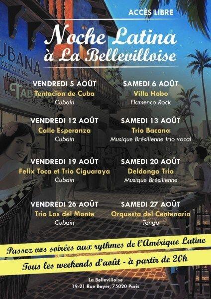 2016 08 26 concert salsa trio los del monte bellevilloise paris