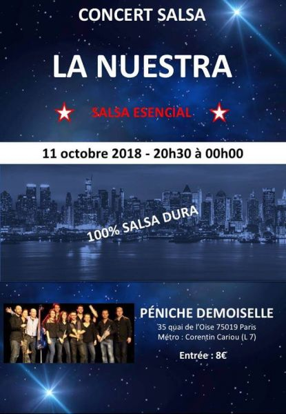 2018 10 11 concert salsa la nuestra paris