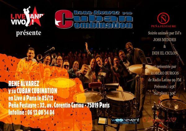 2019 12 05 concert salsa rene alvarez cuban combination paris