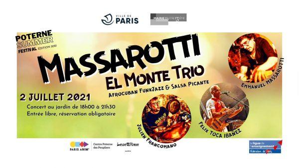 2021 07 02 concert salsa afrocubain massarotti el monte trio