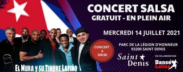 2021 07 14 concert salsa alexis el mura y su timbre latino saint denis