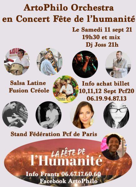 2021 09 11 concert salsa fusion creole artophilo fete humanite bourget