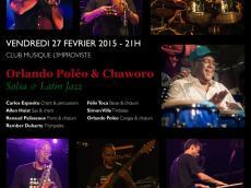 Sortie Salsa avec l'orchestre d'Orlando Poleo le vendredi 27 février 2015,  75013 Paris