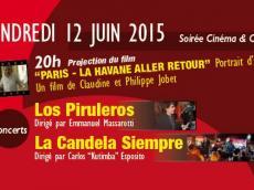 Tu Albergue Salsero Soirée Ciné / Concert le vendredi 12 juin 2015, 75020 Paris