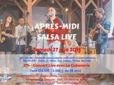La Cubanerie Après-midi salsa live le samedi 27 juin 2015, 75020 Paris