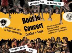 Double concert Salsa et Cumbia avec La Banda en Flor et Yemaya la Banda le samedi 27 juin 2015, 75020 Paris