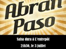 Abran Paso Concert Salsa le vendredi 3 juillet 2015, 75014 Paris