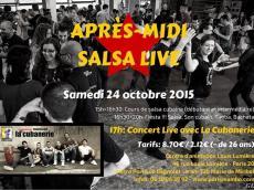 La Cubanerie Concert Salsa le samedi 24 octobre 2015, 75020 Paris