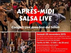 Son del Salón Après-midi salsa live le samedi 28 novembre 2015, 75020 Paris