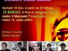Tu Infierno Concert Latino le samedi 19 décembre 2015, 75018 Paris
