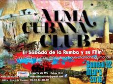 Concert Salsa L'Alma Cubana Club le samedi 12 mars 2016, 93100 Montreuil
