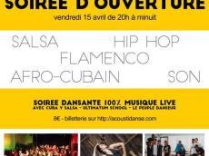 Soirée dansante d'ouverture Festival Acousti'danse le vendredi 15 avril 2016,  94240 L'Haÿ-les-Roses