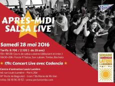 Groupe Cadencia Concert Son Cubain le samedi 28 mai 2016, 75020 Paris