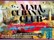 Alma Cubana Club Concert Salsa le dimanche 12 juin 2016, 75010 Paris