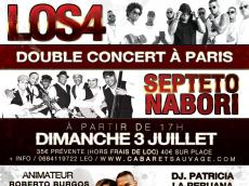 Los4 et Septeto Nabori Concert Salsa le dimanche 3 juillet 2016, 75019 Paris