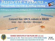 Concert cubain Concert Salsa le vendredi 26 août 2016, 1200 Athis-Mons