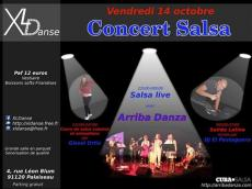Soirée Salsa live avec Arriba Danza le vendredi 14 octobre 2016, 91120 Palaiseau