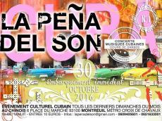 Concert Colectivo Iyé Ifé à la Peña del Son le dimanche 30 octobre 2016, 93100 Montreuil
