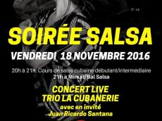 La Cubanerie Trio Concert Salsa le vendredi 18 novembre 2016, 75011 Paris