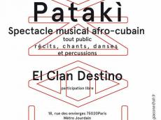 Patakì Spectacle Afro-cubain le samedi 19 novembre 2016, 75020 Paris