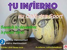 Tu Infierno Concert Salsa le samedi 10 décembre 2016, 75020 Paris