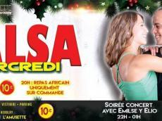 Emilse y Elio Concert Salsa le mercredi 21 décembre 2016, 95220 Herblay
