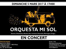 Orquesta Mi Sol Concert Salsa le dimanche 5 mars 2017, 75019 Paris