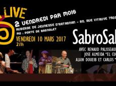 Sabrosalsa 5to Concert Salsa le vendredi 10 mars 2017, 75020 Paris