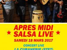La Cubanerie Après-midi salsa live le samedi 18 mars 2017, 75020 Paris