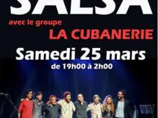 La Cubanerie Concert Salsa le samedi 25 mars 2017, 78125 Poigny-la-Forêt