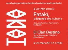 Pataki Spectacle afro-cubain le samedi 25 mars 2017, 75020 Paris