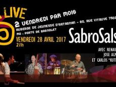 Sabrosalsa 5to Concert Salsa le vendredi 28 avril 2017, 75020 Paris