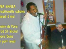 Cuba Mania Concert Son cubain le samedi 6 mai 2017, 75005 Paris