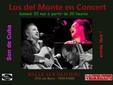 Los del Monte Concert Son Cubain le samedi 20 mai 2017, 75020 Paris
