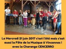 Cencerro Concert Salsa le mercredi 21 juin 2017, 94300 Vincennes