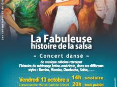 Concert dansé de musique cubaine Concert Salsa le vendredi 13 octobre 2017, 94000 Créteil