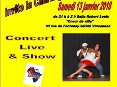 Cencerro Concert Salsa le samedi 13 janvier 2018, 94300 Vincennes