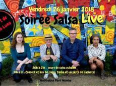 Barrio Luna Concert son cubain le vendredi 26 janvier 2018, 75011 Paris