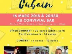 Sabor Latino Concert Son cubain le vendredi 16 mars 2018, 91260 Juvisy-sur-Orge