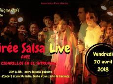Los Cigarillos En El Shtruddle Concert Salsa le vendredi 20 avril 2018, 75011 Paris