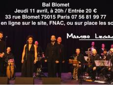 Big Band Mambo Legacy Concert Salsa le jeudi 11 avril 2019, 75015 Paris