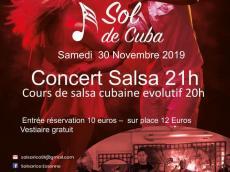 Sol de Cuba Concert Son cubain le samedi 30 novembre 2019, 91080 Courcouronnes