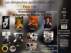 ArtoPhilo Concert Salsa latin fusion créole le dimanche 15 décembre 2019, 75014 Paris