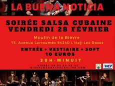 La Buena Noticia Concert Salsa le vendredi 28 février 2020,  94240 L'Haÿ-les-Roses