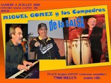 Trio Miguel Gomez Concert Salsa le samedi 4 juillet 2020, 77000 Melun